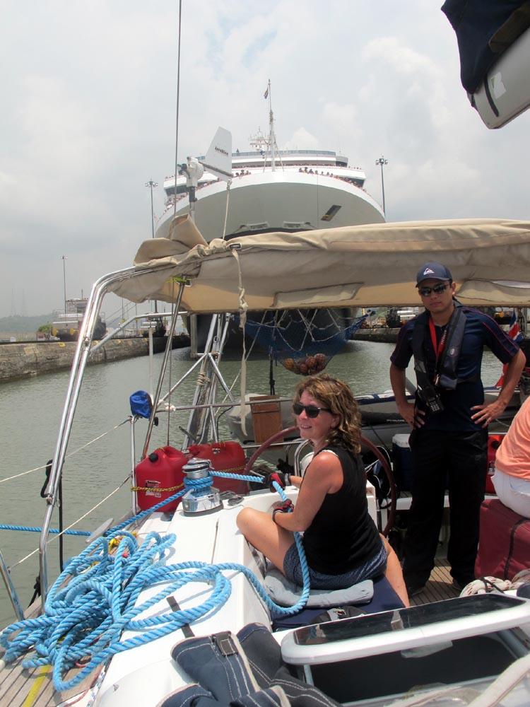 Lisa Crossing Panama Canal April 2014