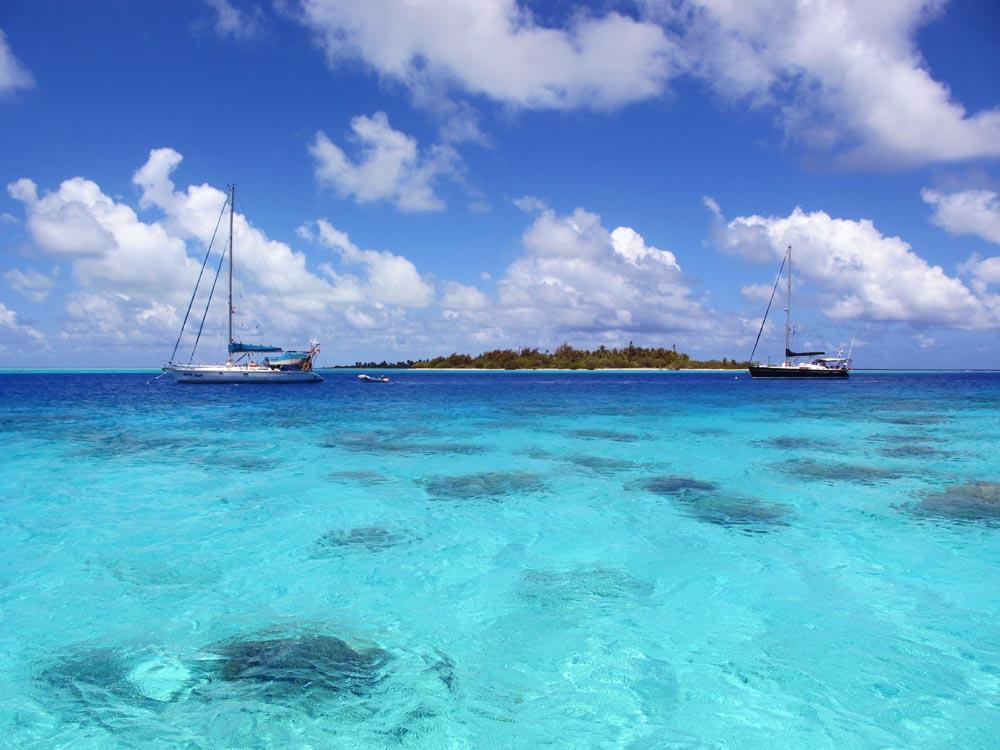 Amandla in Toau, Tuamotus, French Polynesia - Image Courtesy The Captain