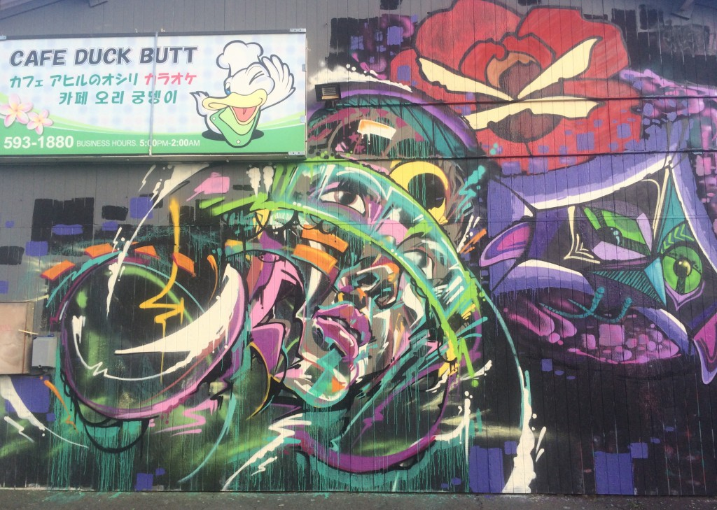Mural on Cafe Duck Butt | Davesaction, TSG, Mung Monster and Puff