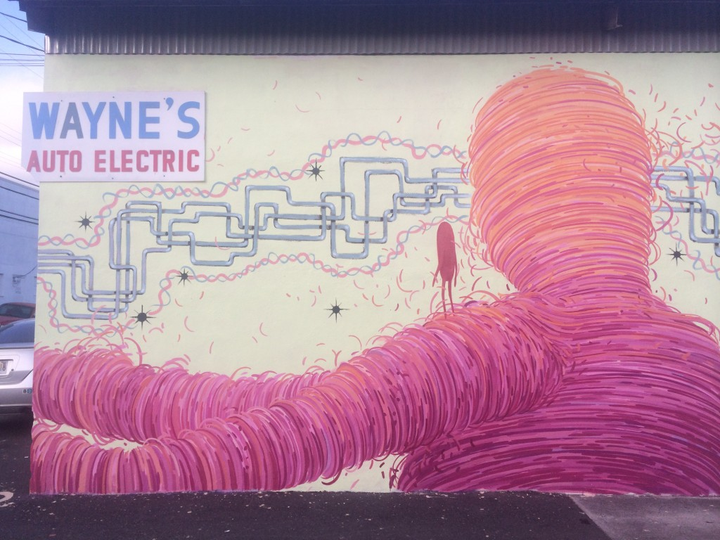 Wayne's Auto Electric - Street Art by Brendan Monroe and Glenn Barr Pow! Wow! Hawaii 2014