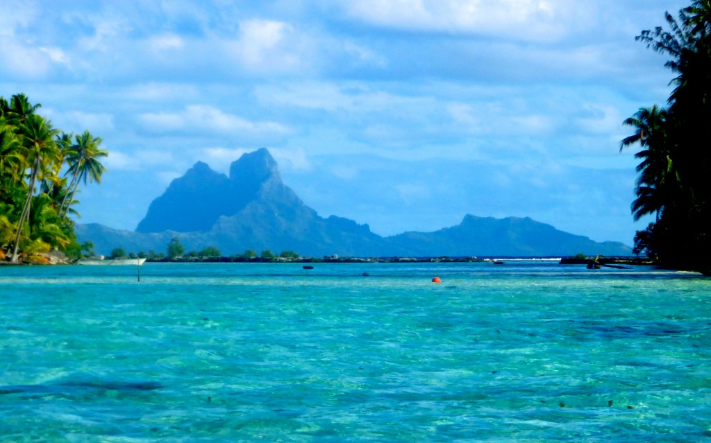 View of Bora Bora from Stern of Amandla