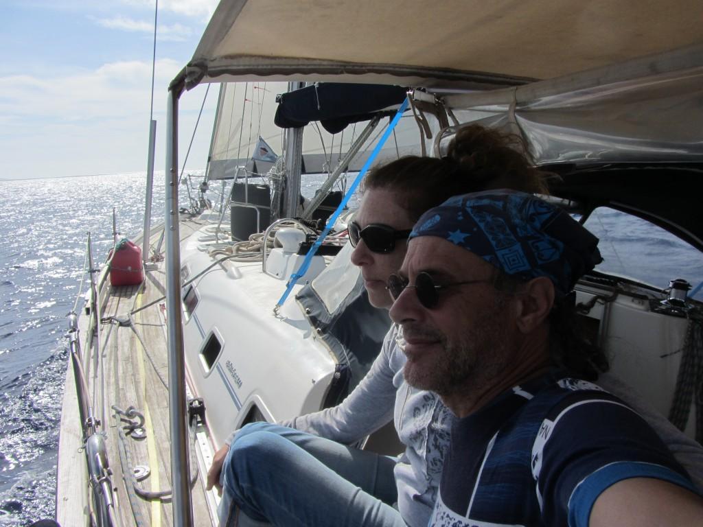 Ken Charon and Rebecca Rosen Charon Aboard Amandla
