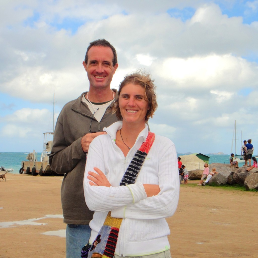 Mark with  Liesbet in Gambier July 2013