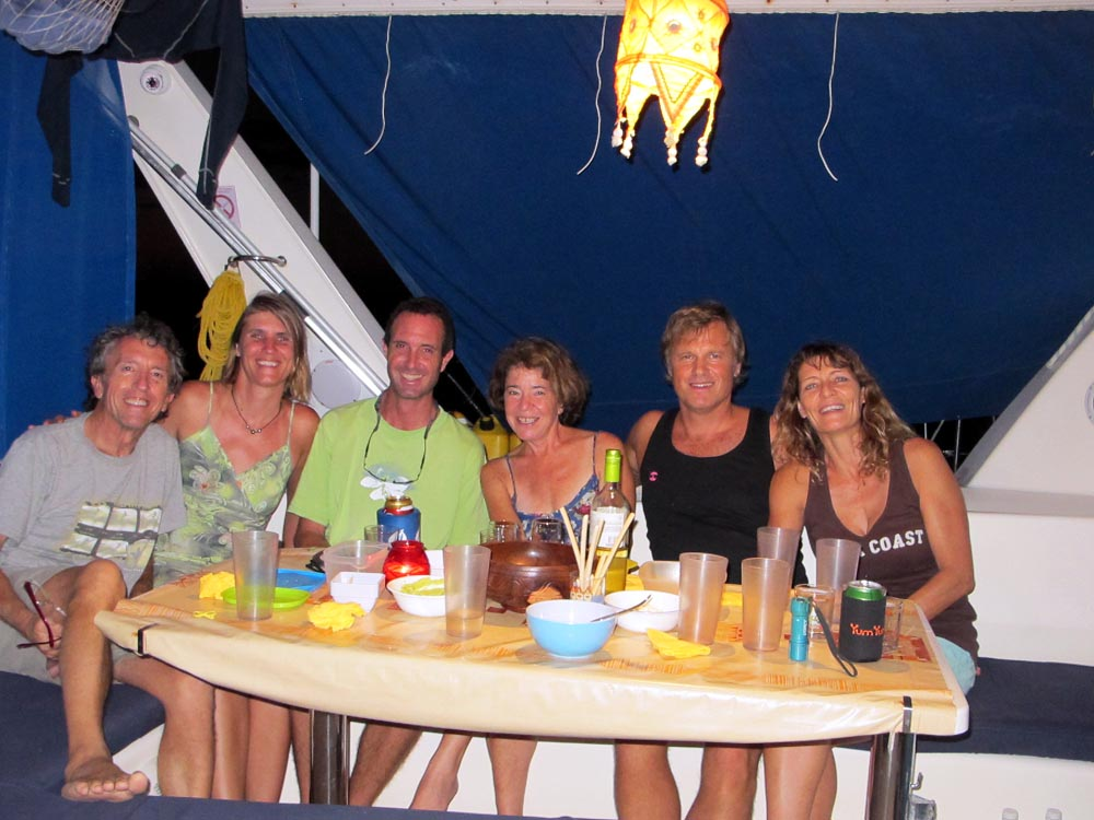 Dinner with Mark, Liesbet, Thor and Valentine - Marquesas - September 2013