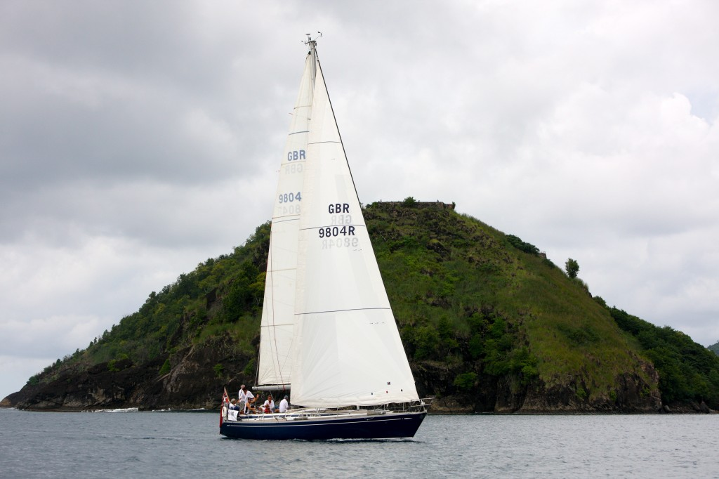 Crew of Milanto Arriving St Lucia - ARC 2011