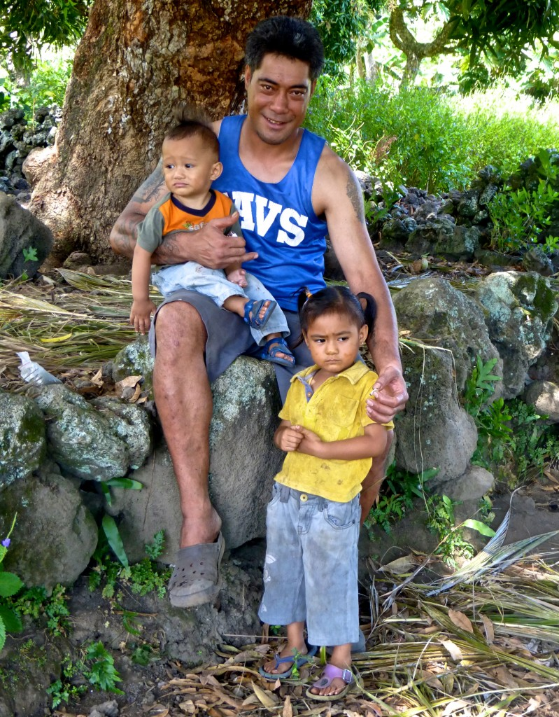 Edna's Husband William with Children Joseph and Vunga