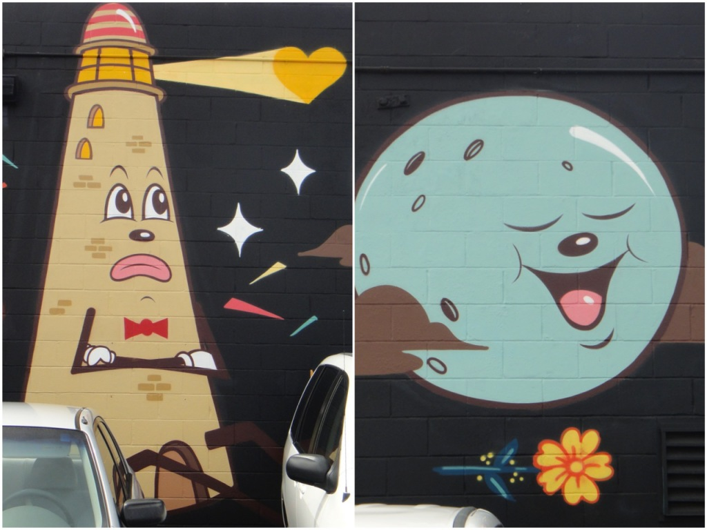 Selections From Dabs, Myla &Misery Mural - Pow! Wow! Hawaii 2014