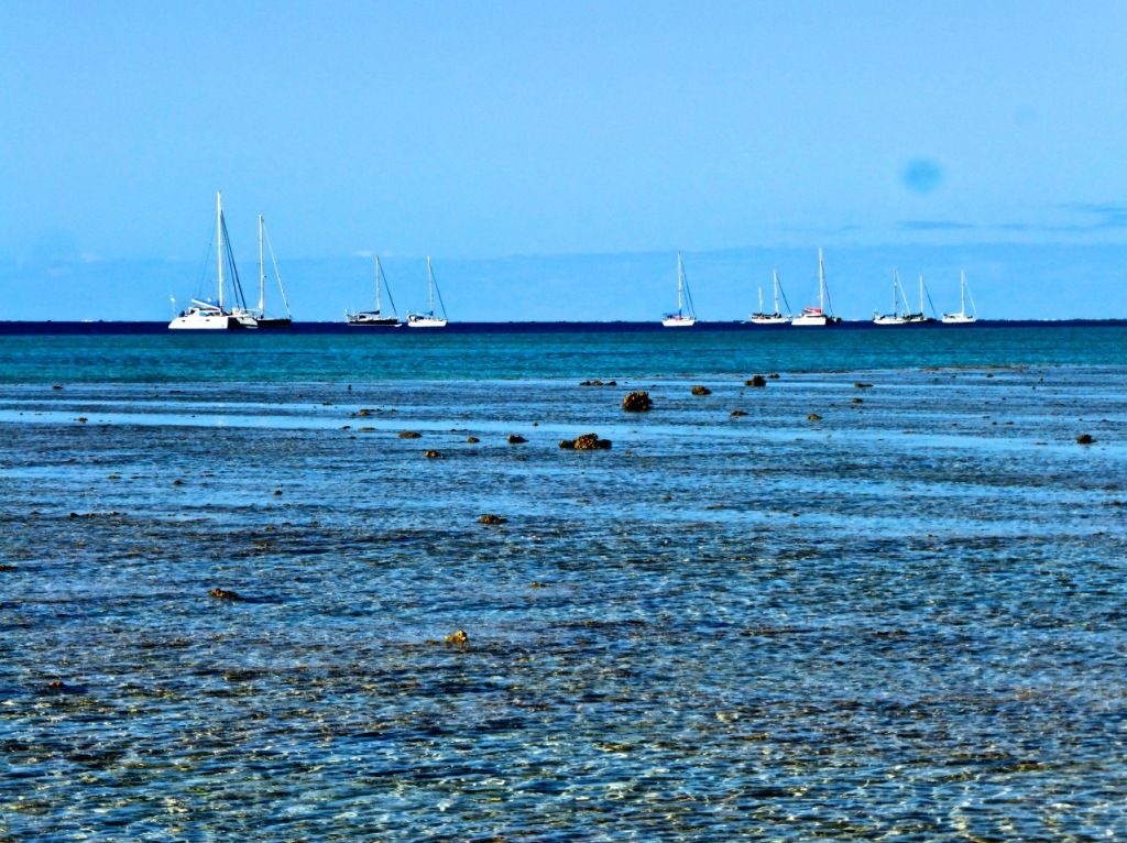 Boats Waiting For A Weather Window In Minerva Reef