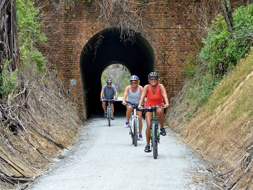Cyclists On The Trail
