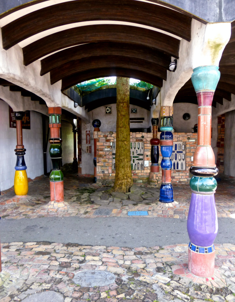 Entrance to the Hundertwasser Toilets
