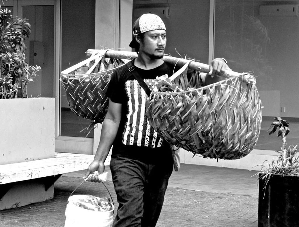 Samoa - September 2014 - Selling Vegtables_BW_Copy