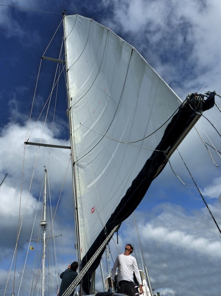 Amandla Fitted With New Mainsail Shortly Before Departure (Thank You Willis Sails)