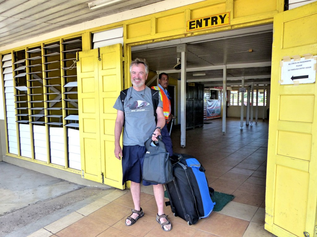 Disembarking Steve At The Labasa Airport