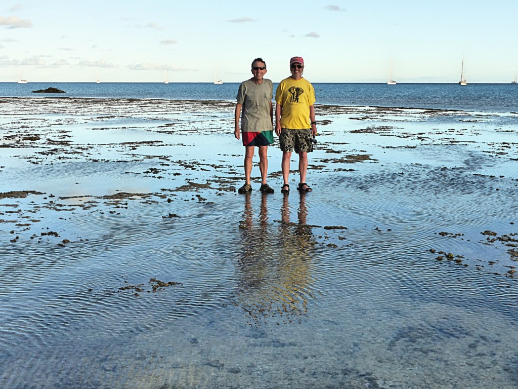 The Captain And Steve On Minerva Reef