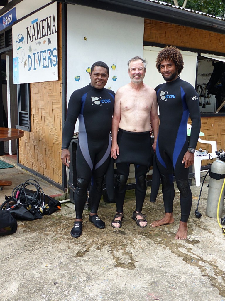 Steve With Very Handsome Dive Masters Sio and Rodney