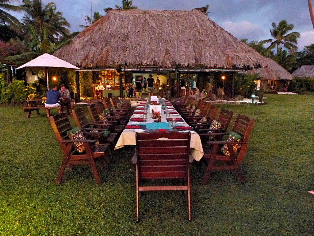 Dinner At Paradise Resort on Taveuni Island