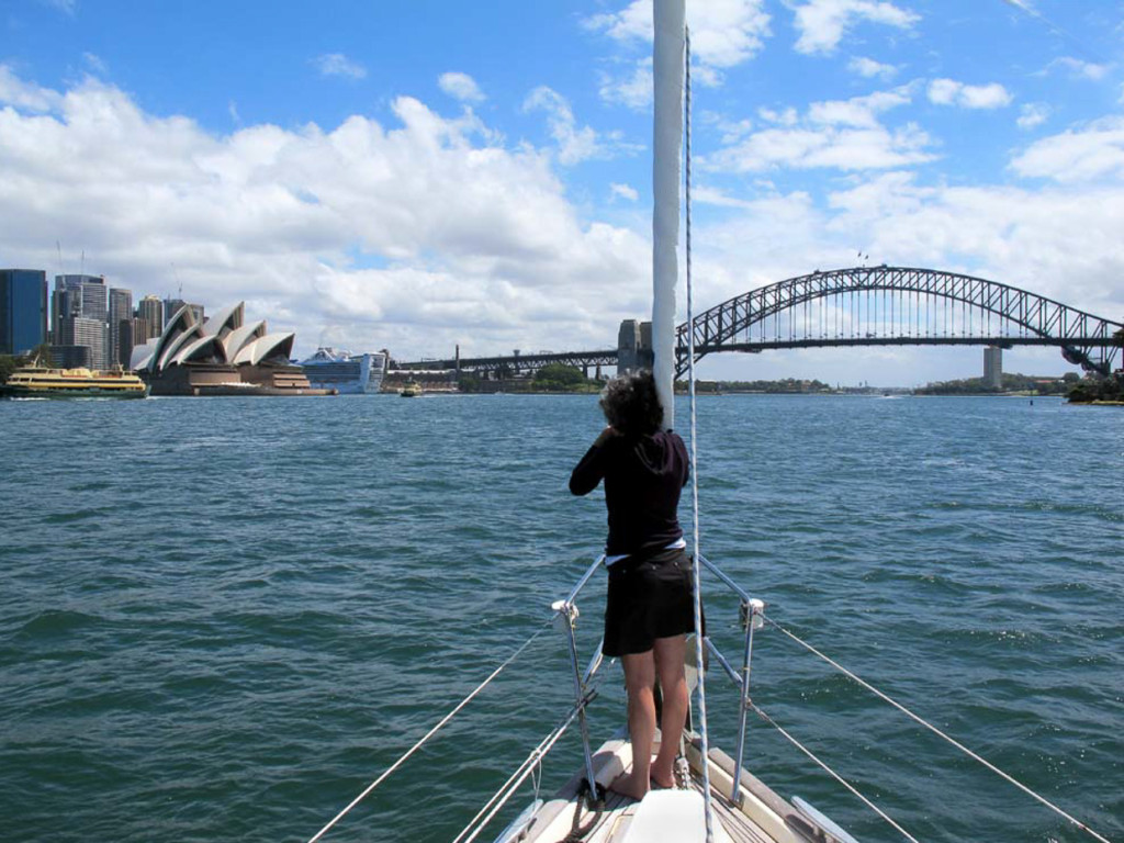 Capturing Sydney From The Bow Image Courtesy The Captain