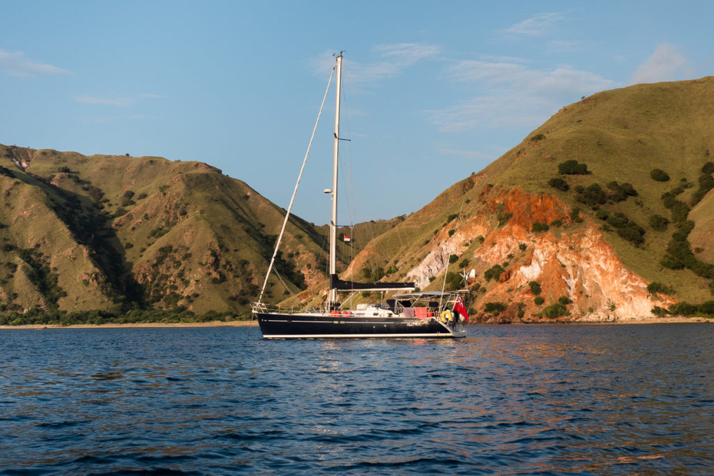 Amandla At Anchor Komodo Island
