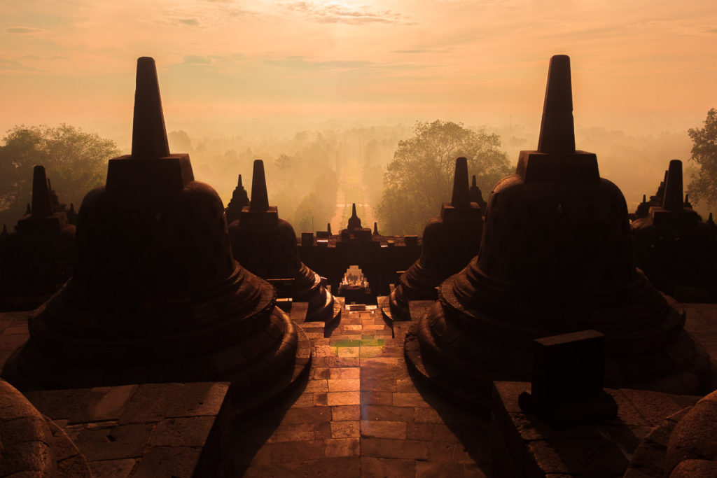Sunrise Borobudur For Cardinal Guzman's The Changing Seasons